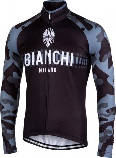 Bianchi Milano Brennero Long Sleeve Cycling Jersey Black (I18-4000)