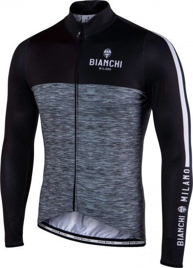 Bianchi Milano Chienes Long Sleeve Cycling Jersey Black (I18-4000)