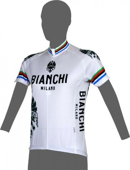 Bianchi Milano Eddi 1 - Short Sleeve Jersey For Ladies White - Campione (E16-4020)
