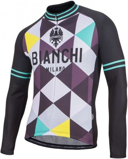 Bianchi Milano Leggenda 1 Long Sleeve Jersey Black/Patterned (I18-4010)