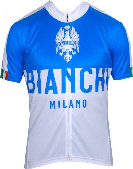 Bianchi Milano Nalon Short Sleeve Jersey Blue/White (E16-4200)