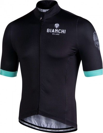 Bianchi Milano New Laces Short Sleeve Cycling Jersey Black (E19-4000)
