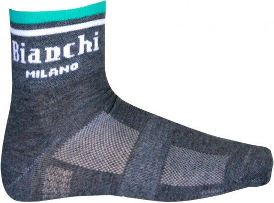 Bianchi Milano Riva Cycling-Coolmax-Socks Grey (I17-4010)