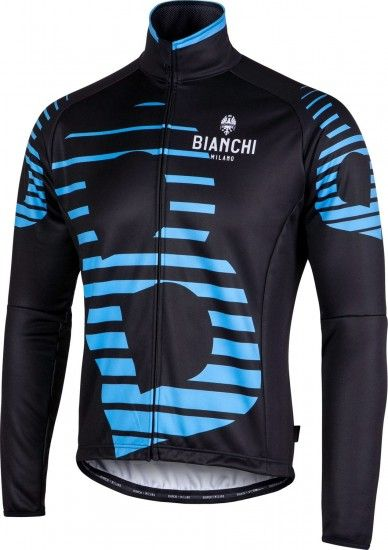 Bianchi Milano Sebato Winter Cycling Jacket Black/Blue (I18-4180)