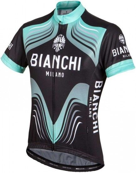 Bianchi Milano Tuela Short Sleeve Jersey For Ladies Black/Celeste (E16-4000)
