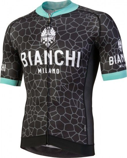 Bianchi Milano Venteno Short Sleeve Cycling Jersey Black (E18-4000)