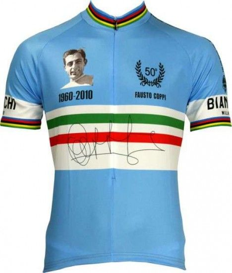 Bianchi Milano Short Sleeves Jersey Pride - Fausto Coppi