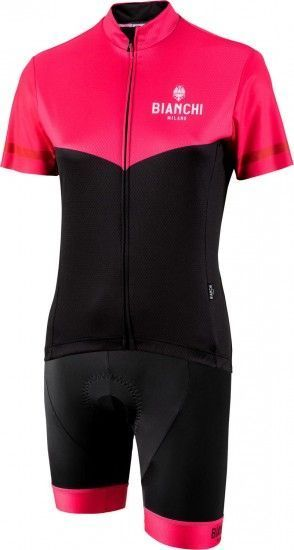Bianchi Milano Womans Cycling Set (Jersey Ginosa + Cycling Shorts Avola) Pink/Black (E19)