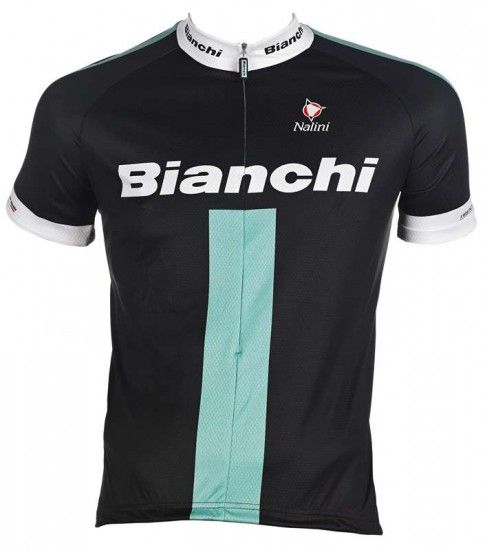 Bianchi Short Sleeve Jersey Reparto Corse Black