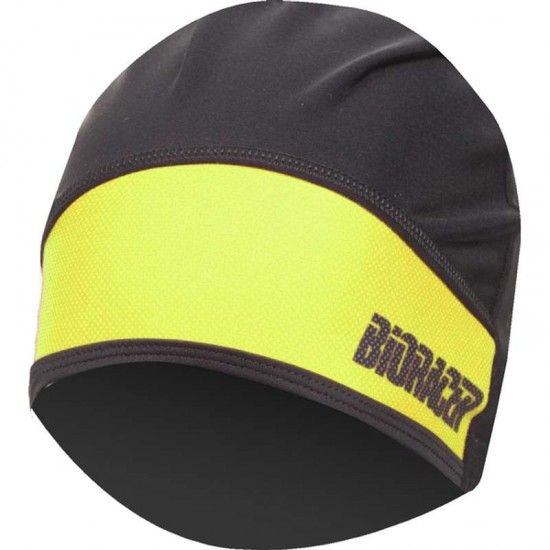 Bioracer Protect Winter Hat Cycling Helmet Liner Black-Fluo Yellow