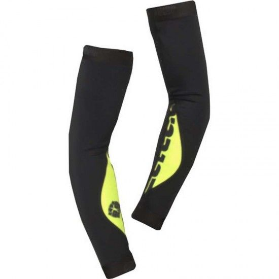 Bioracer Spitfire Tempest Arm Warmers (Lined) Black-Fluo Yellow