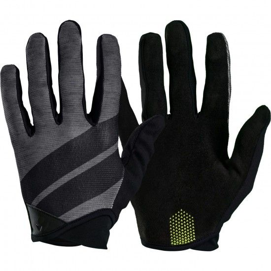 Trek / Bontrager Bontrager Rhythm Long Finger Cycling Gloves Black/Gray