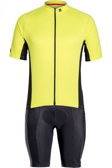 Trek / Bontrager Bontrager Solstice Cycling Set (Short Sleeve Jersey + Cycling Shorts) Fluo Yellow
