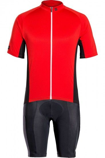 Trek / Bontrager Bontrager Solstice Cycling Set (Short Sleeve Jersey + Cycling Shorts) Red