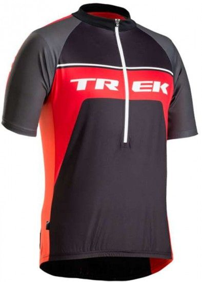 Trek / Bontrager Bontrager Solstice Short Sleeve Jersey For Kids - Trek Black/Red