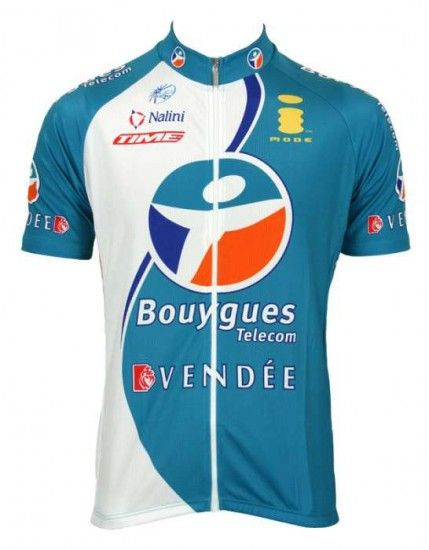 Nalini Bouygues Télécom 2006 Tricot (Jersey Short Sleeve - Long Zip) - Professional Cycling Team