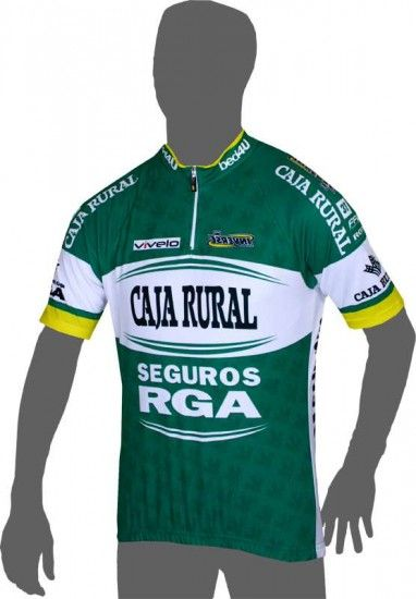 Inverse Caja Rural - Seguros Rga 2014 Short Sleeve Jersey (Short Zip) - Professional Cycling Team
