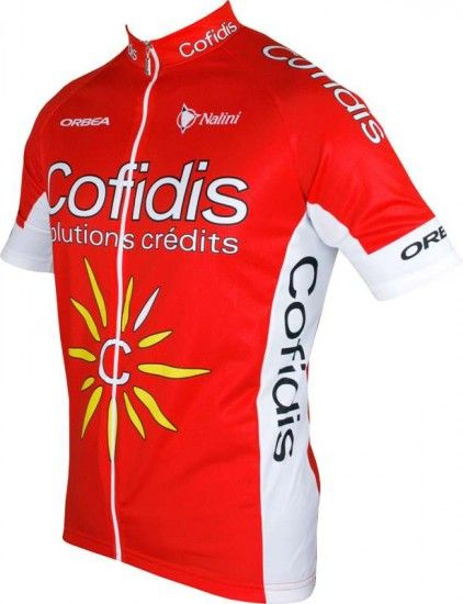 Nalini Cofidis 2016 Short Sleeve Jersey (Long Zip) - Professional Cycling Team