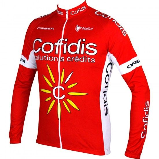 Nalini Cofidis 2017 Long Sleeve Cycling Jersey - Professional Cycling Team