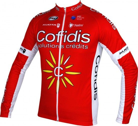 Nalini Cofidis 2018 Long Sleeve Cycling Jersey - Professional Cycling Team