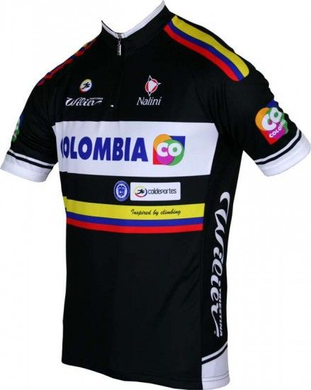 Nalini Colombia 2014 Short Sleeve Jersey (Short Zip) - Professional Cycling Team