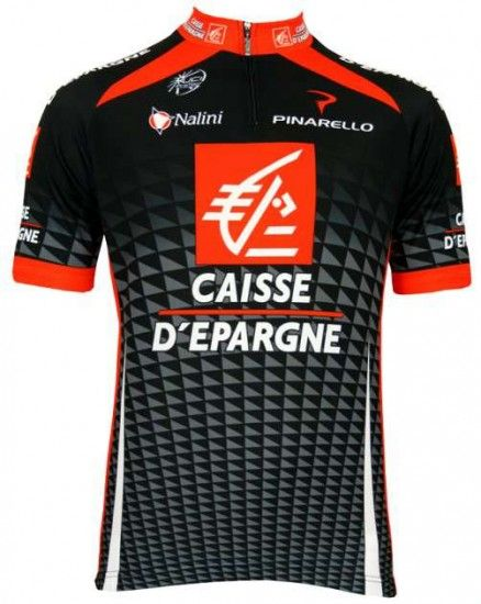 Nalini Caisse D'Epargne 2010 Professional Cycling Team - Cycling Jersey With Short Zip