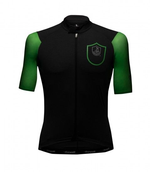 Campagnolo Cobalto Short Sleeve Cycling Jersey Anthracite/Green