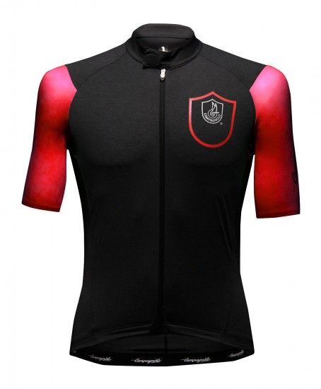 Campagnolo Cobalto Short Sleeve Cycling Jersey Anthracite/Red