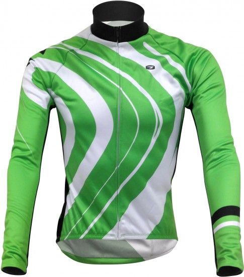 Sugoi Cannondale Evolution Pro Zap Long Sleeve Cycling Jersey Green By