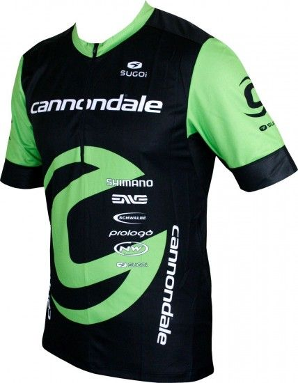 Sugoi Cannondale Factory Racing 2018 Pulse Shirt Short Sleeve Cycling Jersey - Professional Cycling Team