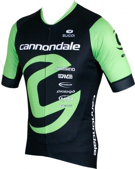 Sugoi Cannondale Factory Racing 2018 Short Sleeve Cycling Jersey (Long Zip) - Professional Cycling Team