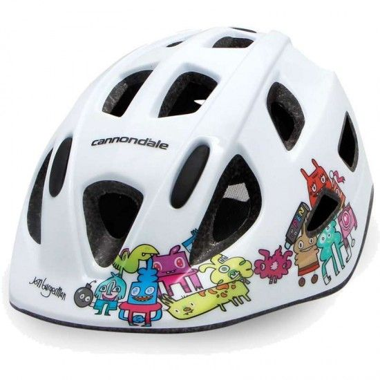 Cannondale Quick Junior Kids Cycling Helmet White - Design By Jon Burgerman