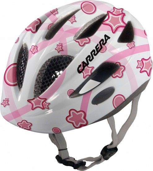 Carrera Children Cycling Helmet Boogie White Star