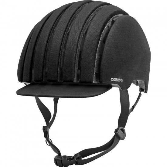 Carrera Cycling Helmet Foldable Crit Wp Black Waxed
