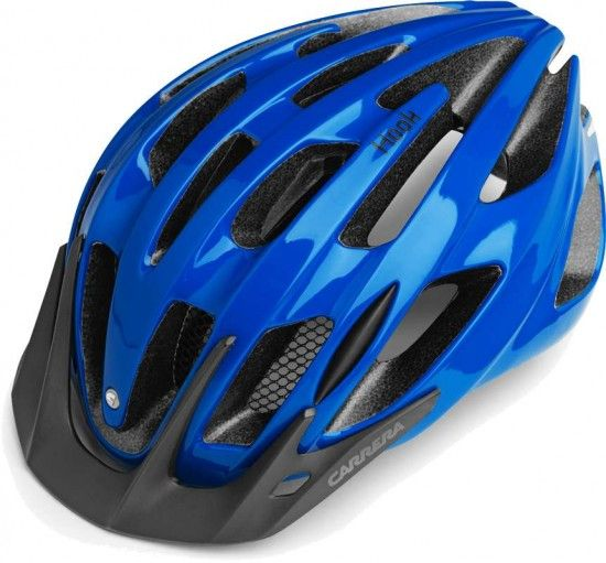 Carrera Cycling Helmet Hook Blue Shiny