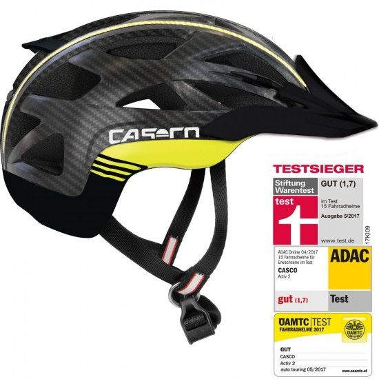 Casco Activ 2 Cycling - Helmet Black/Yellow Fluo/Carbon