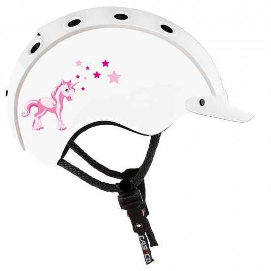 Casco Mini Mini Unicorn Kids Cycling Helmet White/Pink