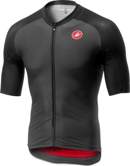 Castelli Aero Race 6.0 Short Sleeve Cycling Jersey Dark Gray