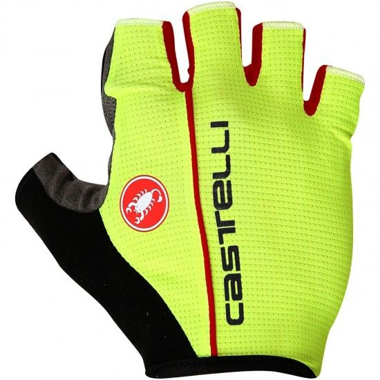 Castelli Circuito - Short Finger Cycling Gloves Yellow Fluo