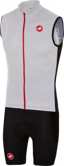 Castelli Entrata 3 + Evoluzione 2 Cycling Set (Sleeveless Jersey + Short) Black/White