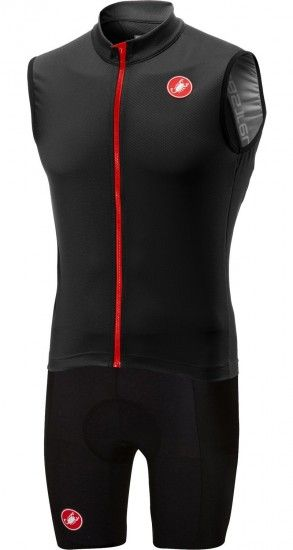 Castelli Entrata 3 + Evoluzione 2 Cycling Set (Sleeveless Sleeve Jersey + Cycling Shorts) Black