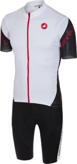 Castelli Entrata 3 + Velocissimo Iv Cycling Set (Short Sleeve Jersey + Bibshort) Black/White