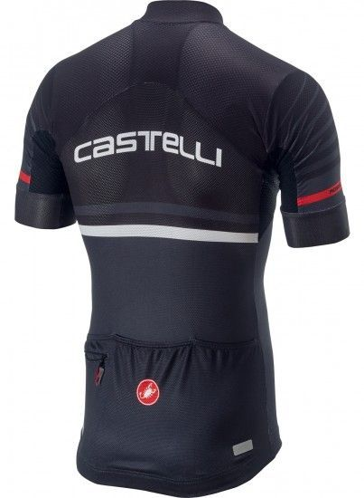Castelli Free Aero Race Kit Cycling Set (Short Sleeve Jersey Long Zip + Bib Shorts) Black/Dark Gray
