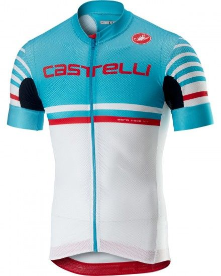 Castelli Free Ar 4.1 Short Sleeve Cycling Jersey Sky Blue/White