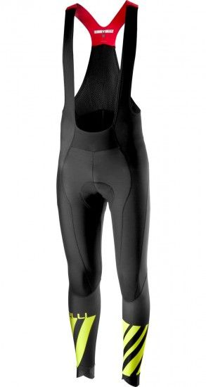 Castelli Lw Cycling Bib Tights Black/Yellow Fluo