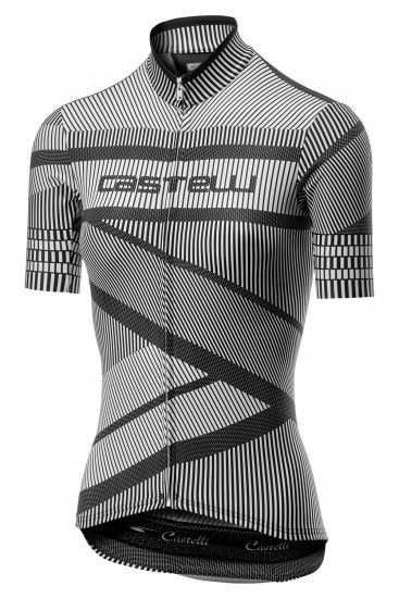 Castelli Millerighe Womens Short Sleeve Cycling Jersey White/Black