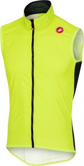 Castelli Pro Light Wind Vest - Cycling Gilet Yellow Fluo