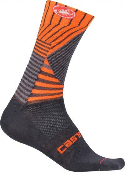 Castelli Pro Mesh 15 Cycling Socks Dark Steel Blue/Orange