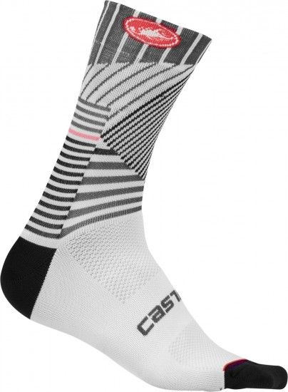 Castelli Pro Mesh 15 Cycling Socks White/Dark Gray