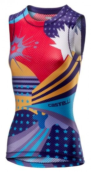 Castelli Pro Mesh Womens Cycling Sleeveless Base Layer Multicolor Purple
